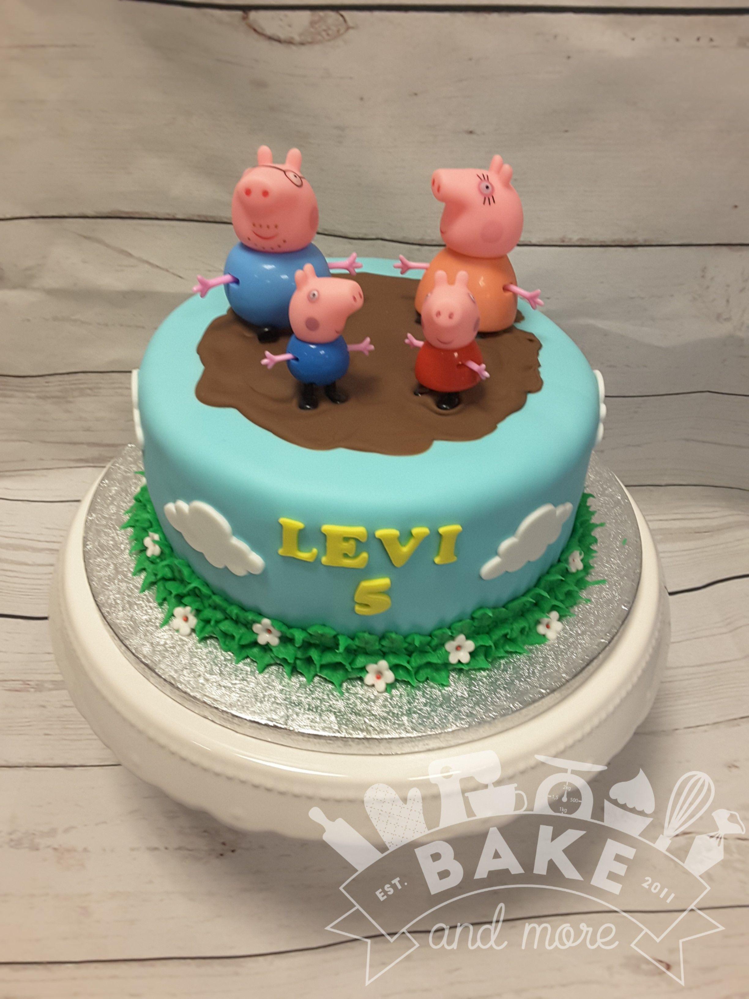 Peppa Pig Taart Decoratie