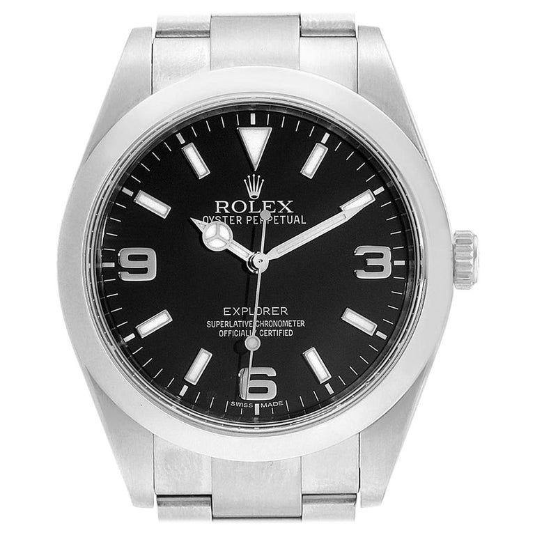 Rolex Explorer I 39 Stainless Steel Men's Watch 214270