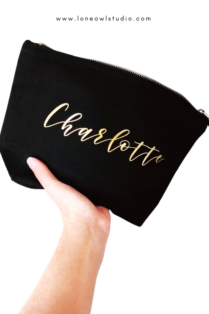 Beauty Gift, Personalised Makeup Bag, Custom Makeup Bag