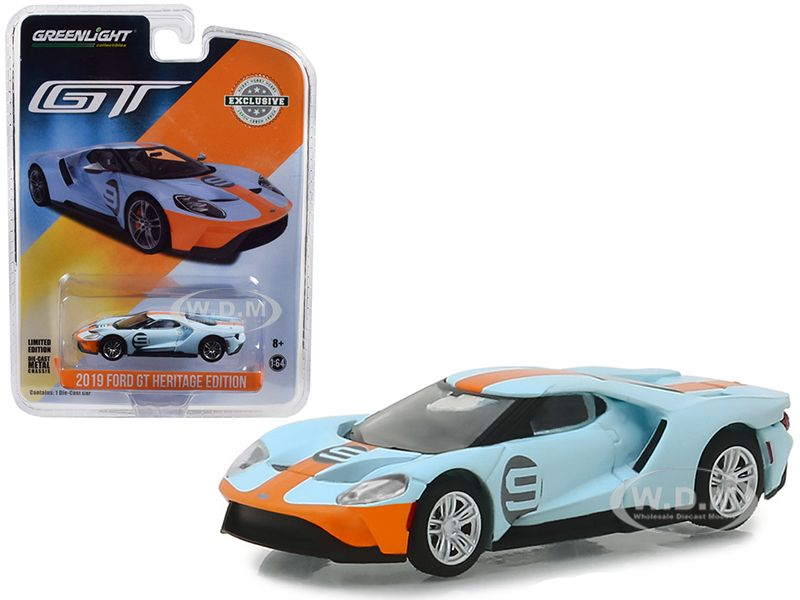 Buy Cheap 2019 Ford Gt 9 Gulf Racing Blue With Yellow Stripes
