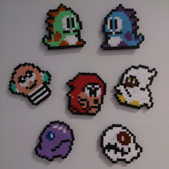 Bubble Bobble magnets hama beads by omglinno