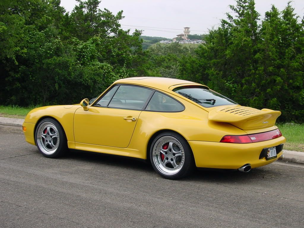 beautiful yellow porsche 993 turbo on speedlines everyday993 porsche everyday 993. Black Bedroom Furniture Sets. Home Design Ideas