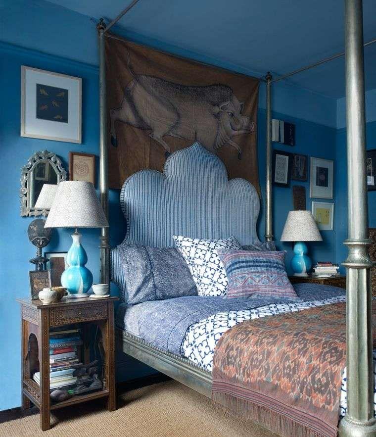 chambre tête de lit orientale bleue en 2019   Chambre ...