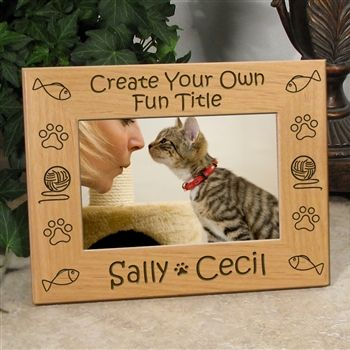 Create Your Own Custom Cat Frame   Personalized Pet Picture Frame ...