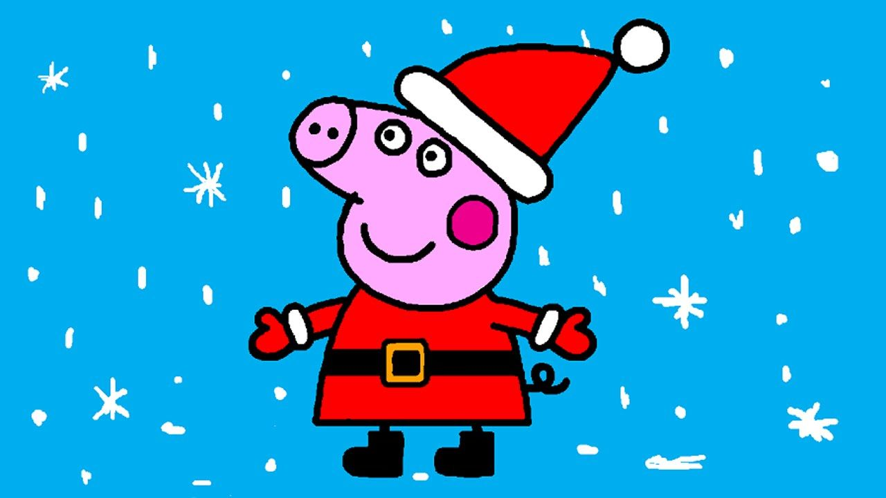 peppa pig coloring pages for kids peppa pig coloring games peppa pig santa clause coloring book