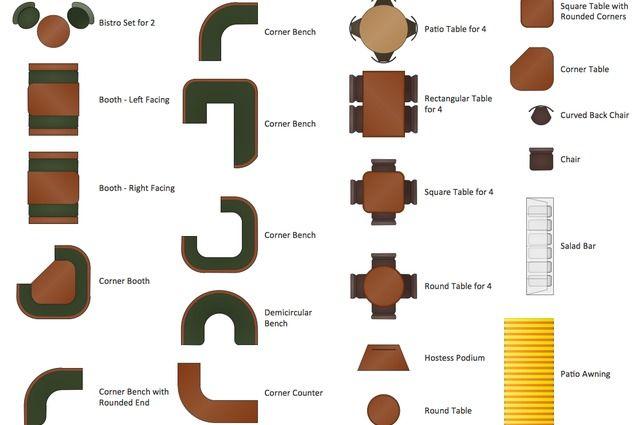 Restaurant Floor Plan Symbols | coffee shop, bars, restaurants ...