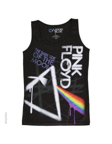c4bad792570 Pink Floyd Prism Drip Womens Tank T-Shirt - This womens Pink Floyd tank t- shirt in black