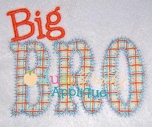 Big bro zig zag applique design embroidery designs brother