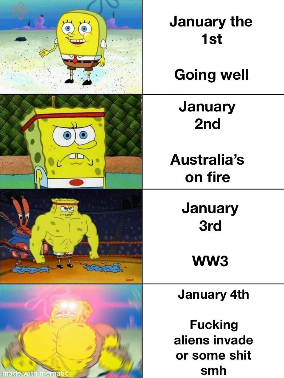 WW3 January 2020 spongebob meme in 2020 (With images