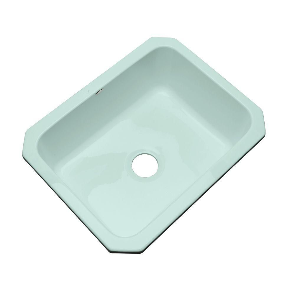 Inverness Undermount Acrylic 25 in. Single Bowl Kitchen Sink in ...
