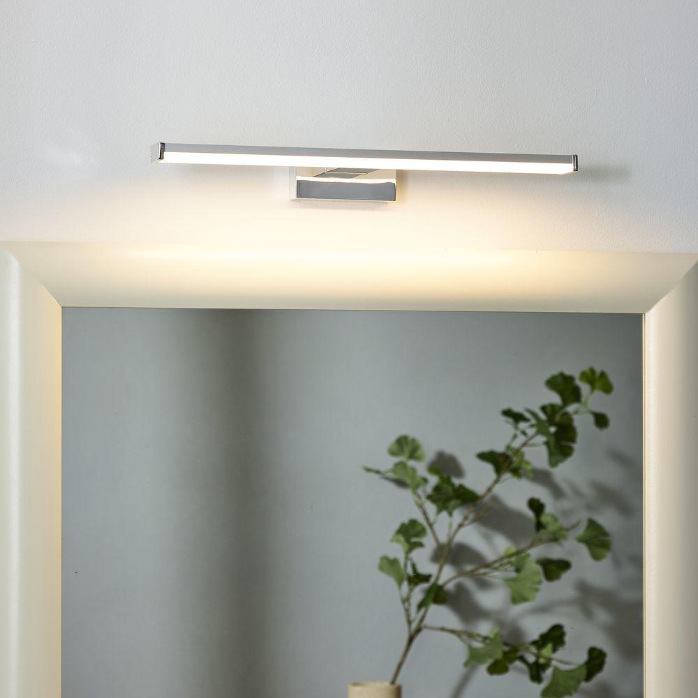 Badezimmer Spiegelleuchte Onno In Chrom Matt 400mm Lucide 79297 08 12 Lampe Badezimmer Badezimmerlampe