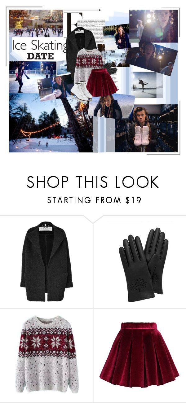 """""""Ice Skating date"""" by carrylin ❤ liked on Polyvore featuring Burberry, Mulberry, Chicnova Fashion, Chicwish, harrystyles, nightchanges and iceskatingdate"""