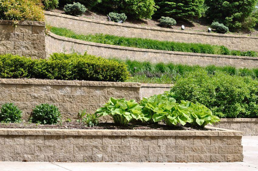 Products Stone Concrete Brick Blocks Boulders Granite Tile Terrace Garden Backyard Retaining Walls Concrete Retaining Walls