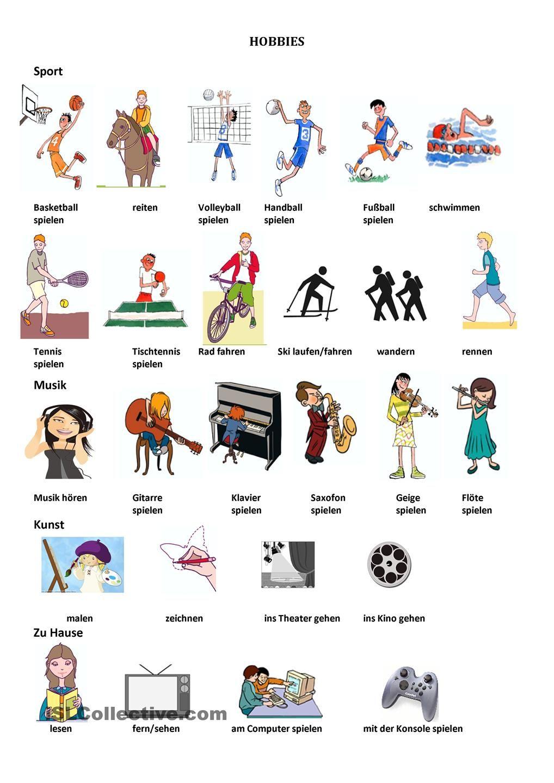 Hobbys << Interesting..... Plus | Deutsch lernen | Pinterest | Englis…