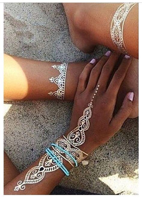 White Henna Really Like Tbis Kinda Looks Like A Flash Tattoo