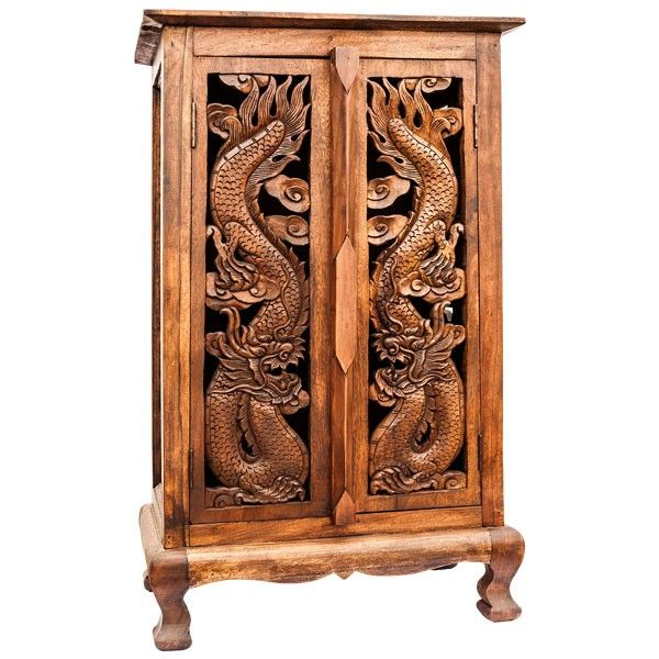 Dragon Carved Cabinet