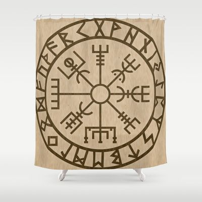 Old Norse Viking Symbols Of Protection By Healinglove Shower Curtain Art Products