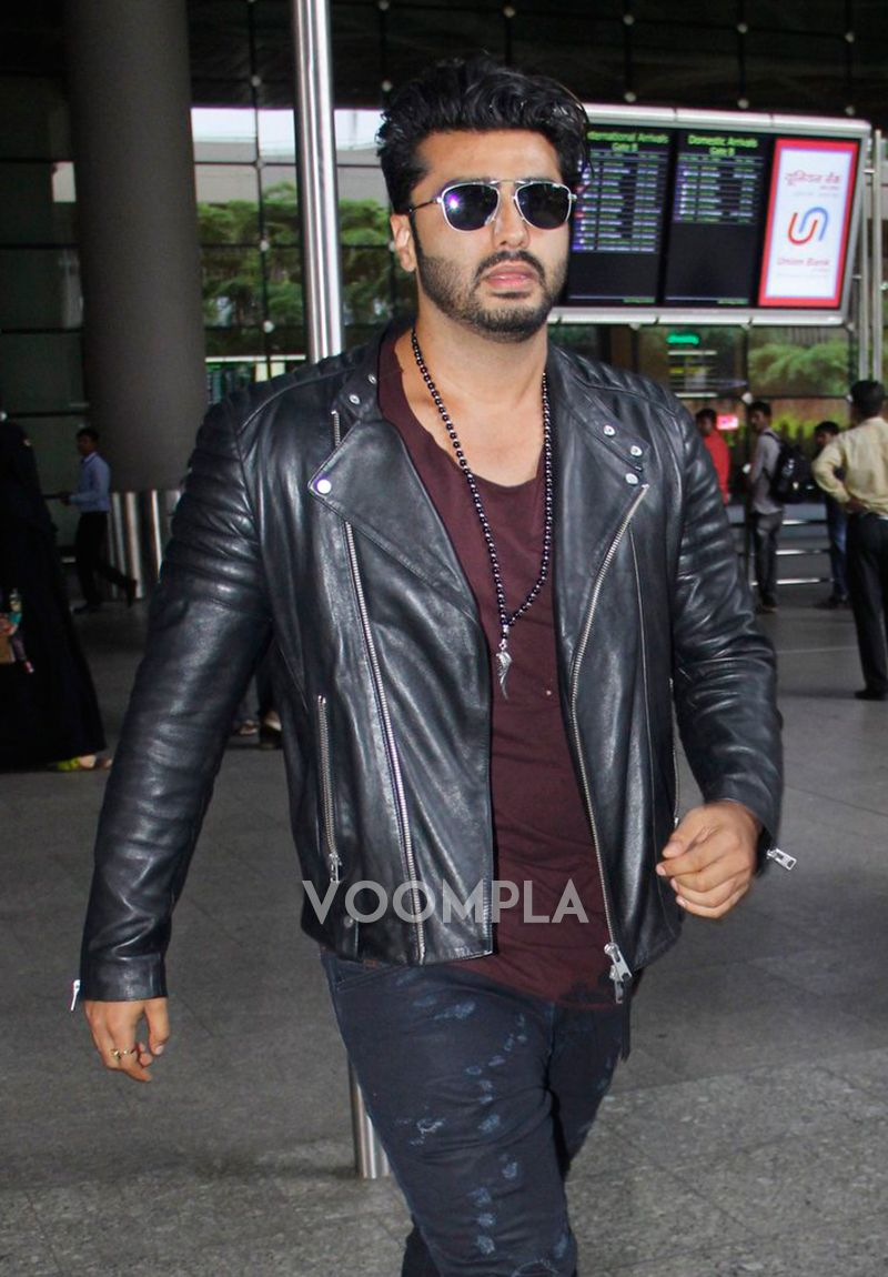 Leather jacket cape town - Stylish Duo Shraddha Arjun Return To Mumbai After Half Girlfriend S Cape Town Wrap