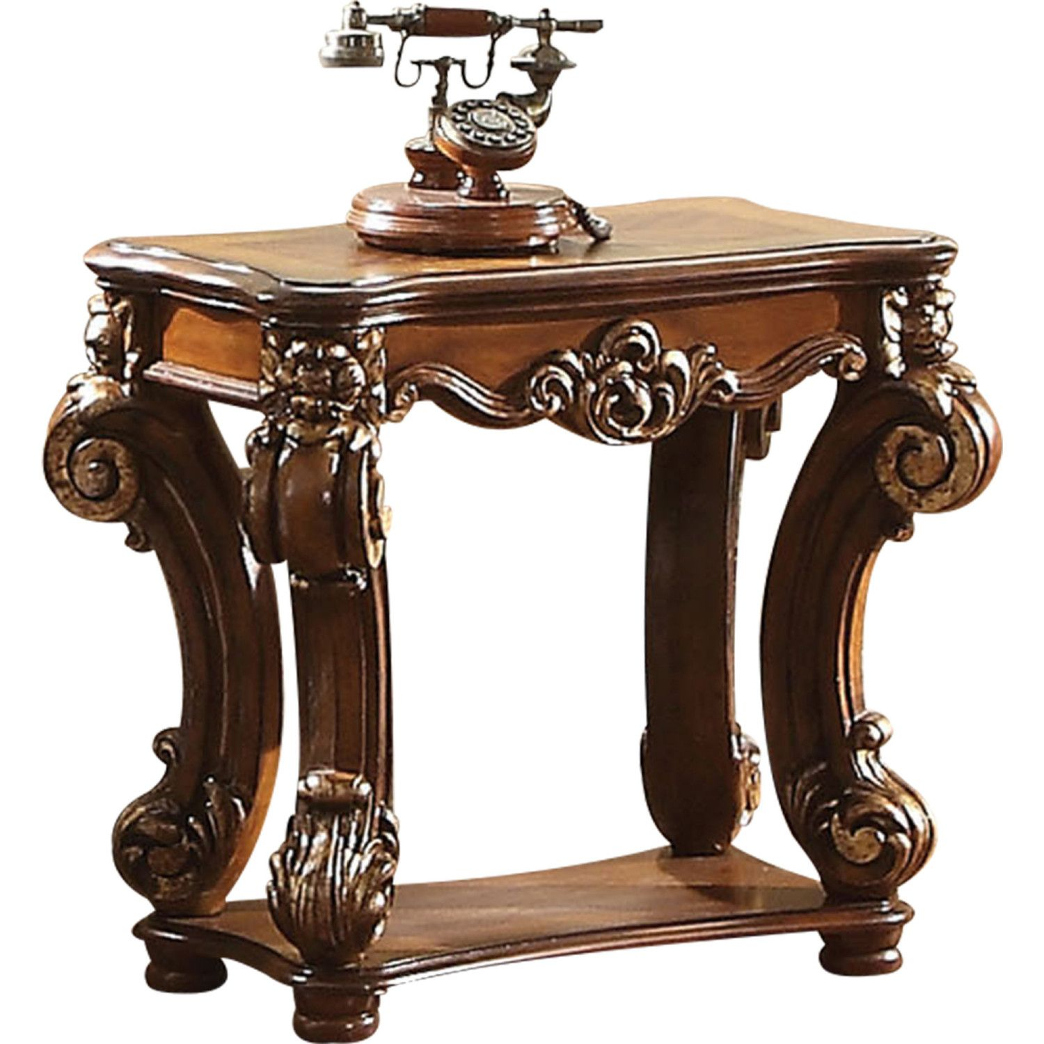 Best Acme Vendome Side Table Cherry Living Room Sets 400 x 300