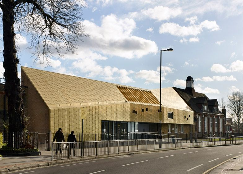Modern Architecture Schools hayhurst and co adds a golden extension to a victorian school