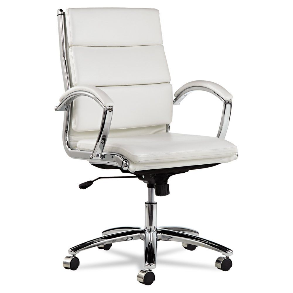 leather office chair amazon. amazon.com: alera neratoli mid-back swivel/tilt chair, white faux leather office chair amazon c