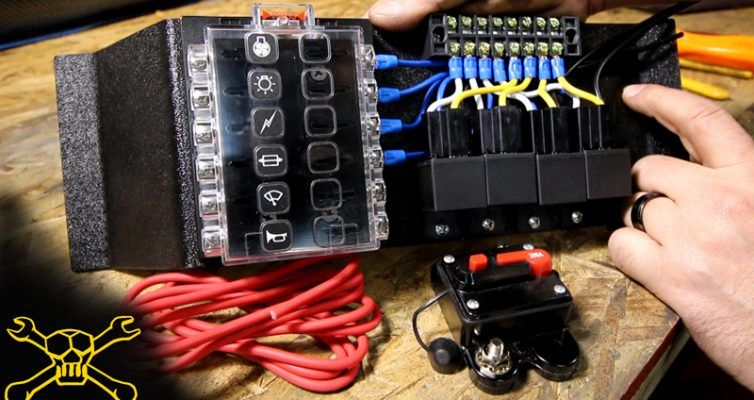 making a custom automotive fuse power relay block the fab ... old style fuse box car accessories old fashion fuse box #12
