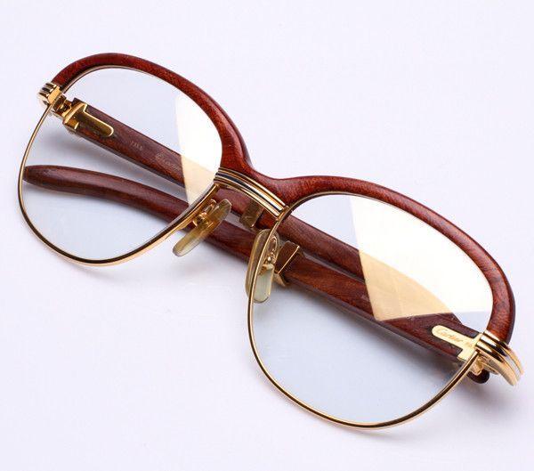 Cartier Malmaison Palisander Rosewood Floyd Mayweather Vintage Glasses Men Cartier Malmaison