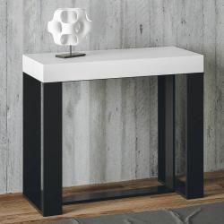 Photo of Uitschuifbare consoletafel tot 196 cm gemaakt van melamine hout gemaakt in Italië, Balme Viadurini Collezione living