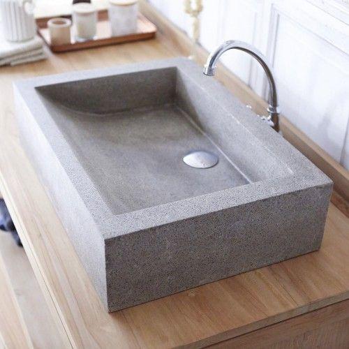 Waschbecken Terrazzo Pegase 60 Grey Waschbecken Beton