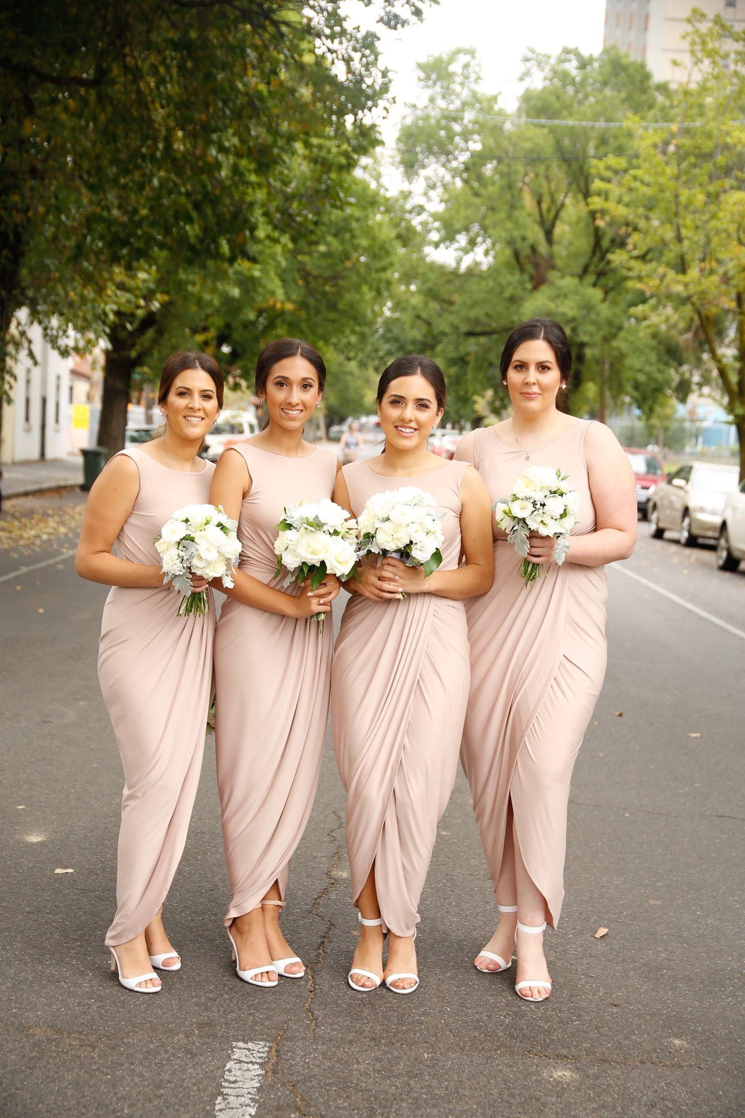 Our beautiful melbourne bride jeanette chose the bessy dress in our beautiful melbourne bride jeanette chose the bessy dress in nude for her bridesmaids ombrellifo Image collections