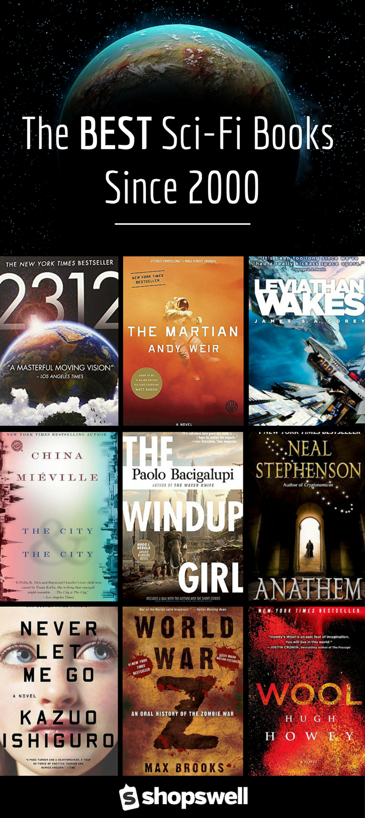 35 of the best sci fi books published since the year 2000