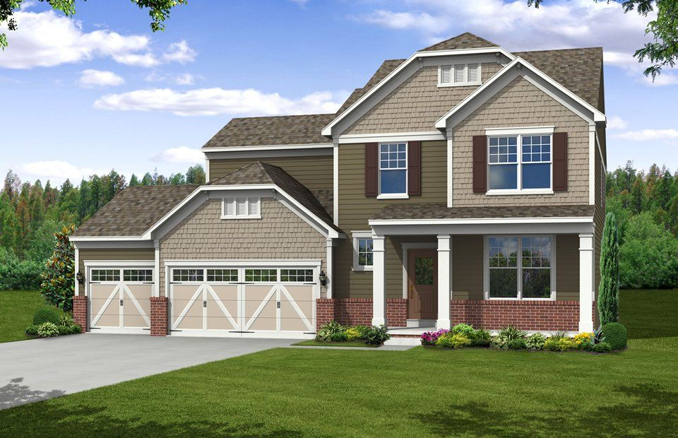 Pulte Homes Brick And Siding Combination Pulte Homes Curb Appeal Pulte