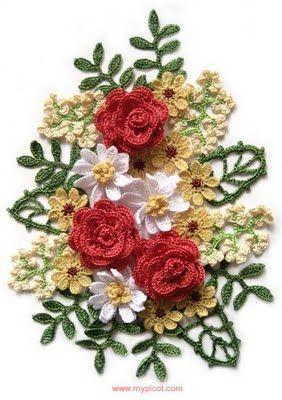 Free Patterns For Beautiful Picot Crochet Crochet Bouquet