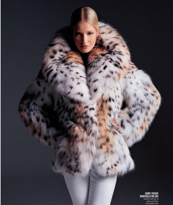 lynx fur jacket, why go for the real fur and deprive a life when ...