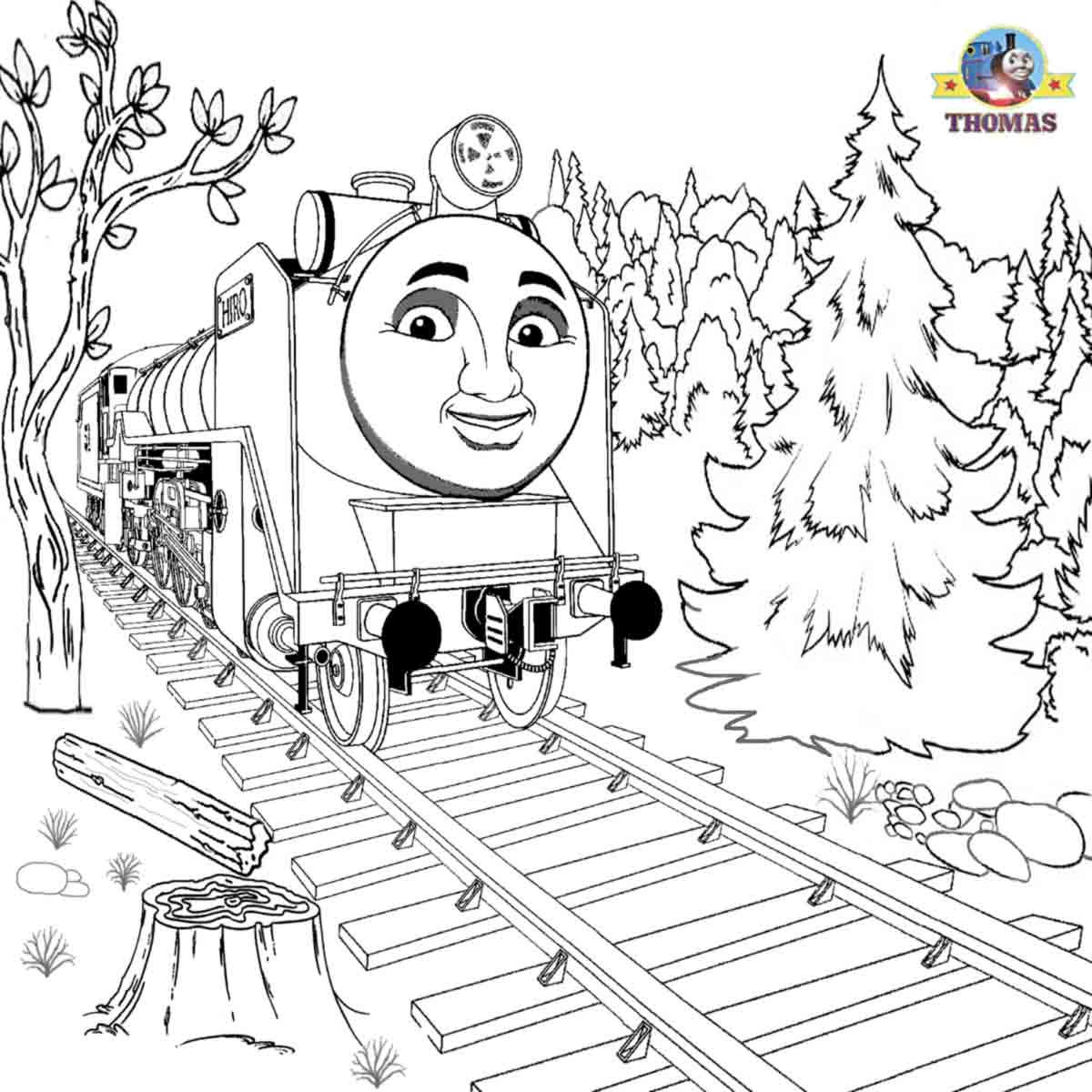 Rosie train coloring - Hiro Coloring Page