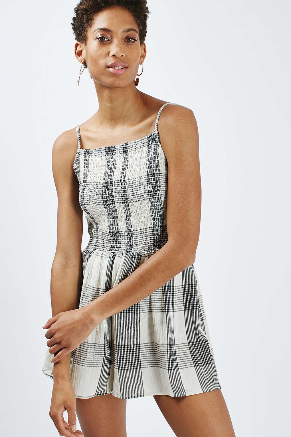 f947ce8ad250 Strappy Check Playsuit - Rompers   Jumpsuits - Clothing