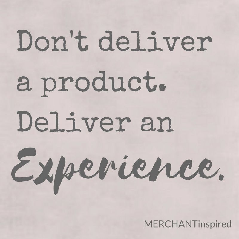 quote of the day. don't deliver a product. deliver an