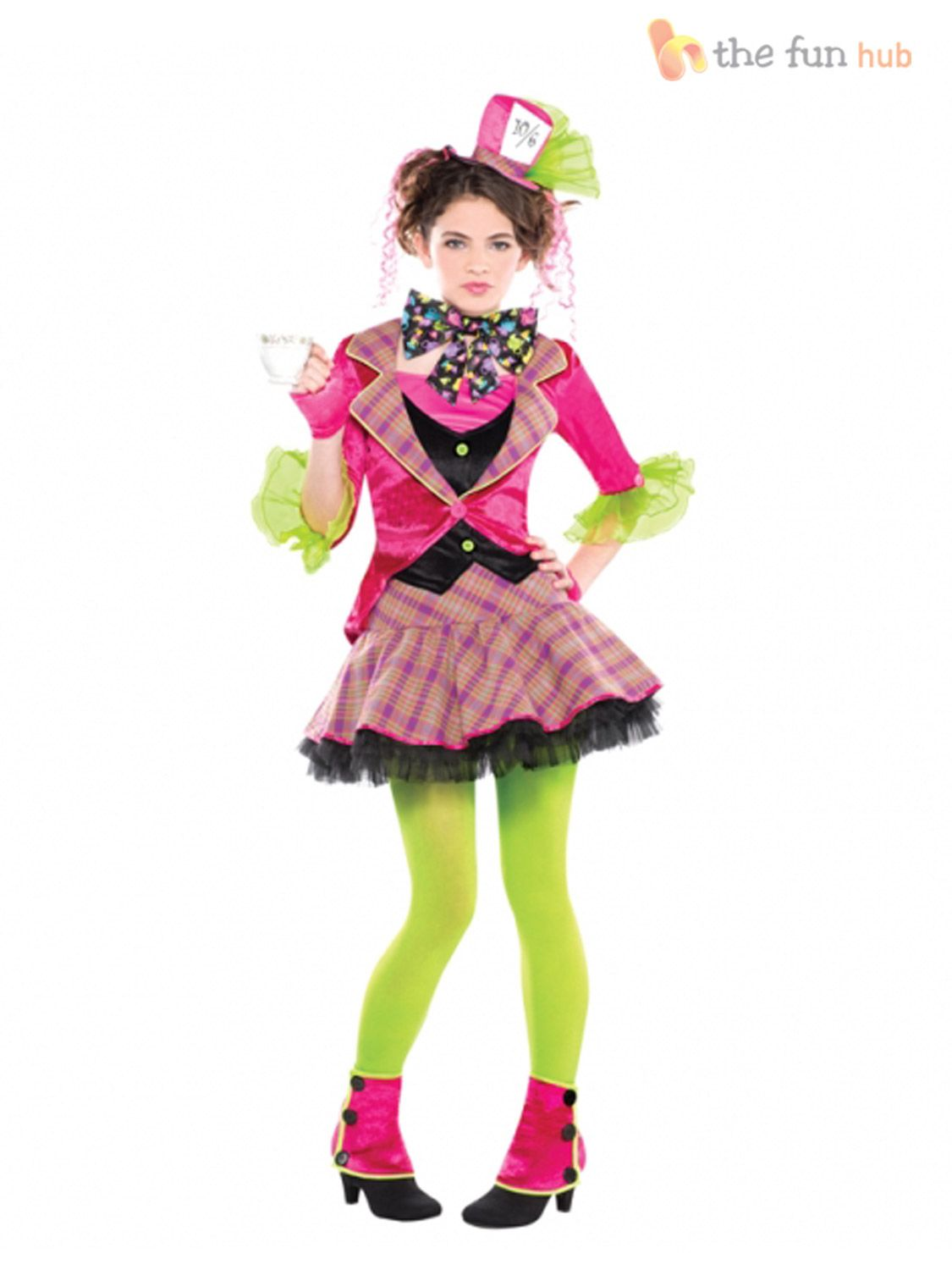 Age 10-16 Girls Mad Hatter Costume Tea Party Teen Fancy ... Diy Halloween Costumes For Girls Age 10