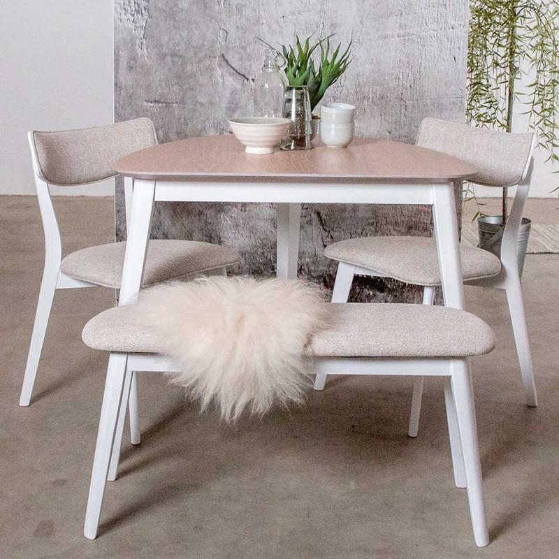 Scandi Tischgruppe Mit 2 Stuhlen Mini Bank Sillas 4 Teilig