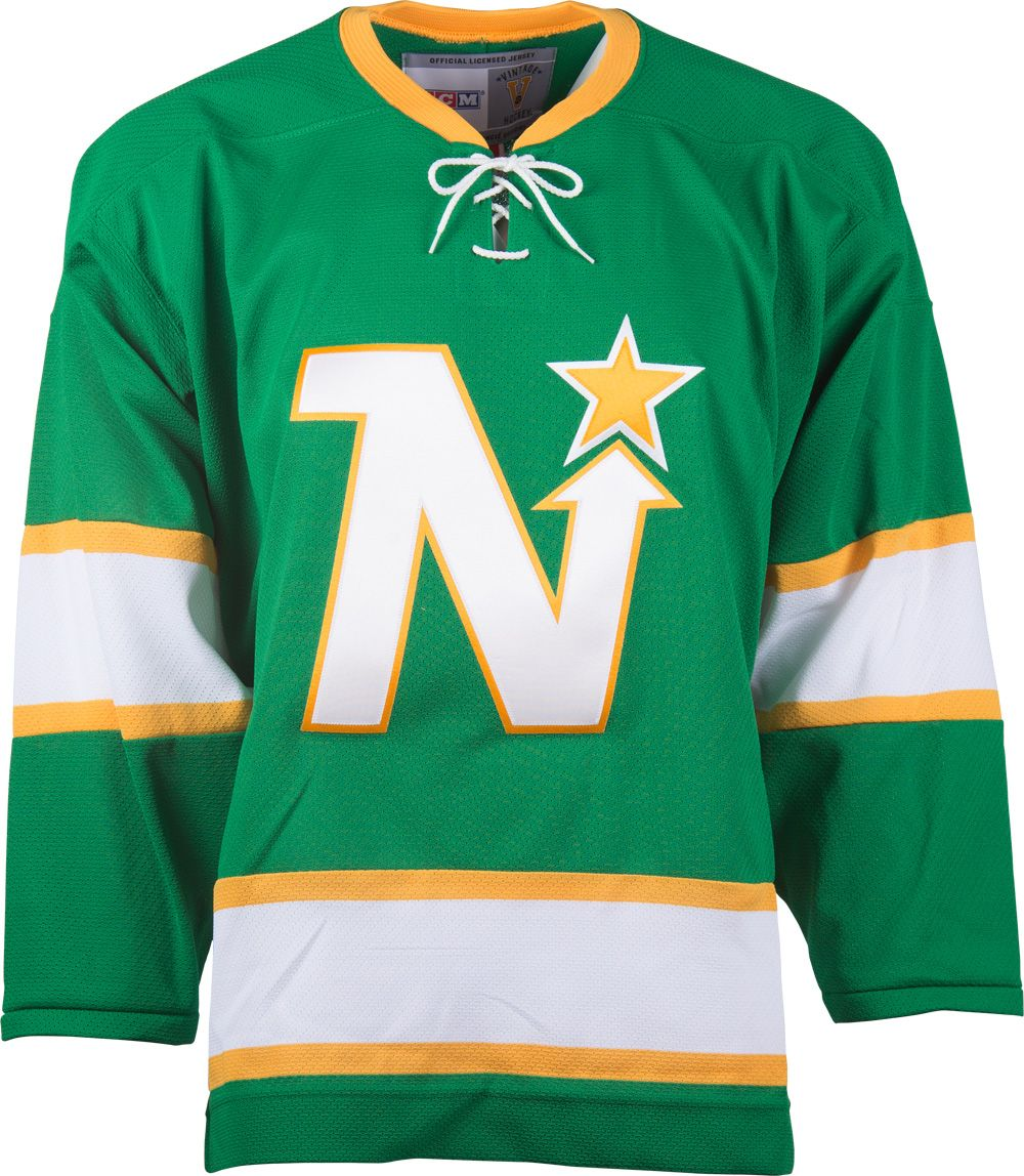 Minnesota North Stars CCM Vintage 1967 Kelly Green Replica NHL Hockey Jersey ab43822e638