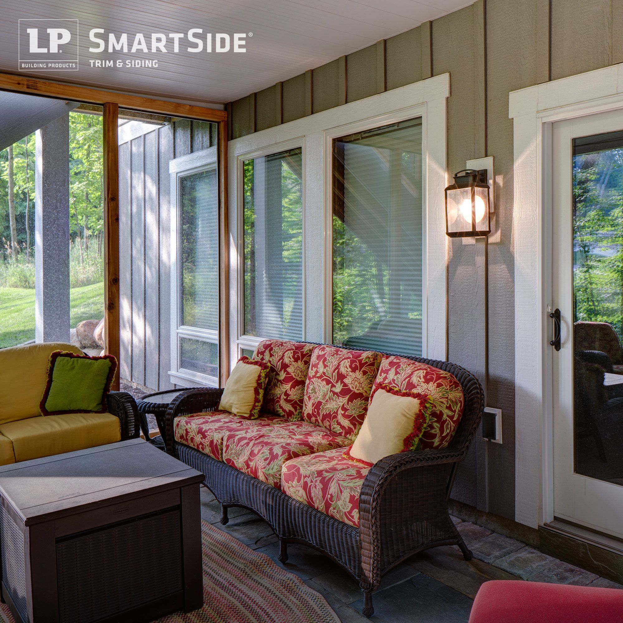 Bring Exterior Details Inside A Screened In Porch Featuring Lp Smartside Trim And Panel Siding