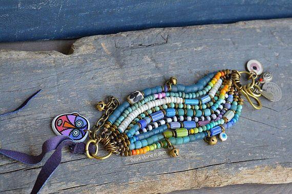 Hippie boho pulsera de cadena multi étnica gitana pulsera
