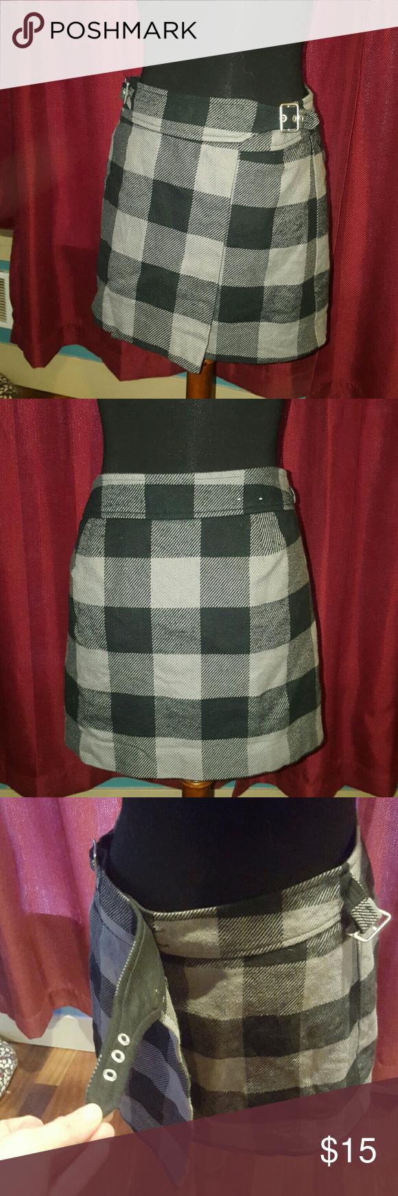 Image Is Loading Vine 90s Lucky Brand Womens Mini Wrap Skirt