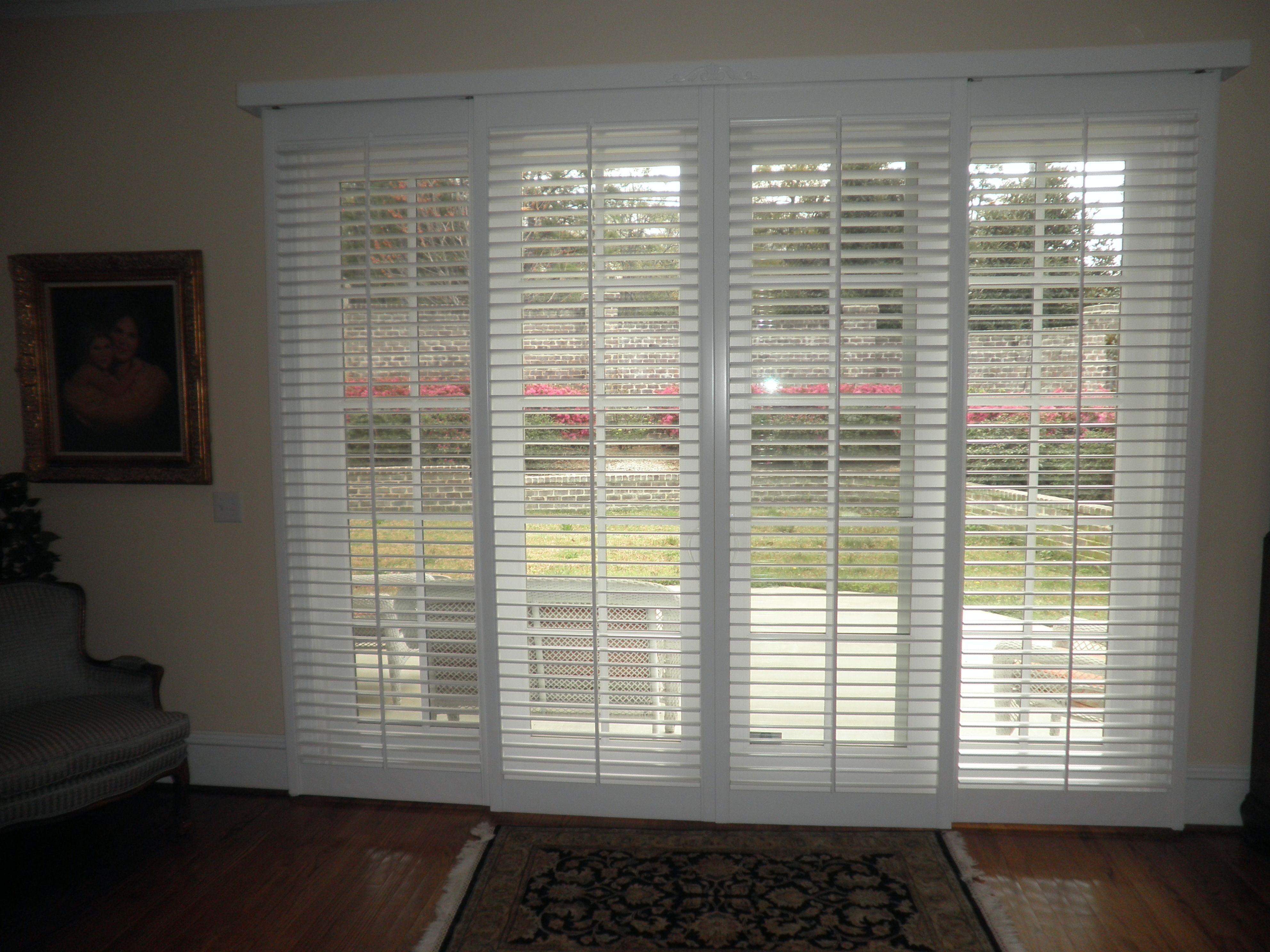 wooden shutters for sliding glass doors