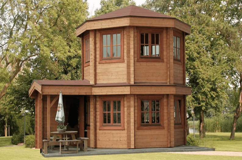 This Gorgeous Octagonal Log Cabin Only Costs 50 000 Tiny House Cabin Tiny House Design Tiny House