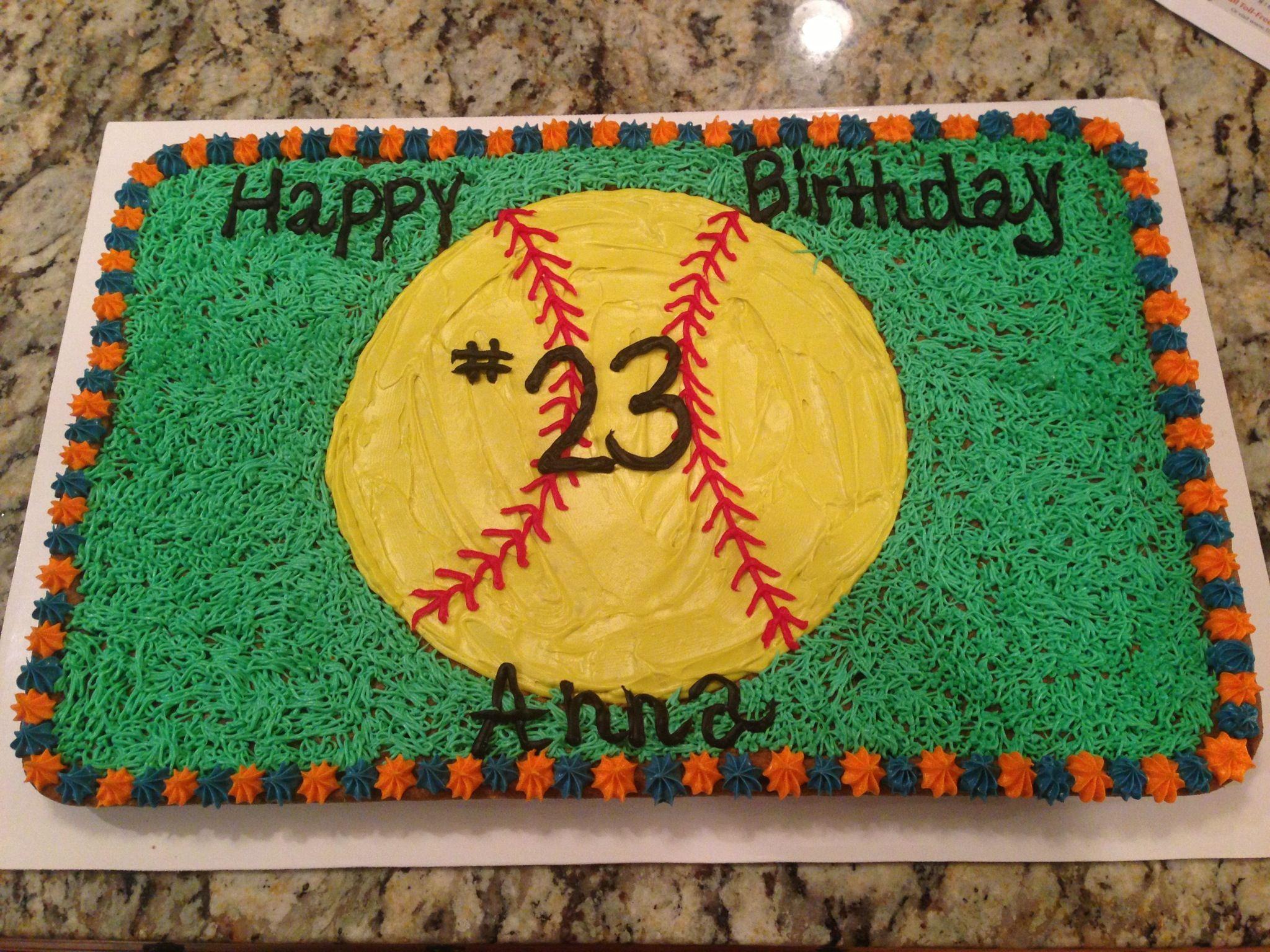 Incredible Softball Cake Softball Birthday Cakes Softball Birthday Parties Personalised Birthday Cards Paralily Jamesorg