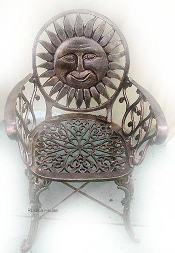 rustic garden chair sun