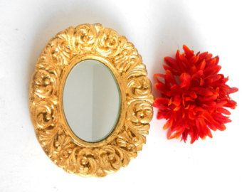Oval Mirror Ornate Oval Mirror 2417 Made in by CasaKarmaDecor