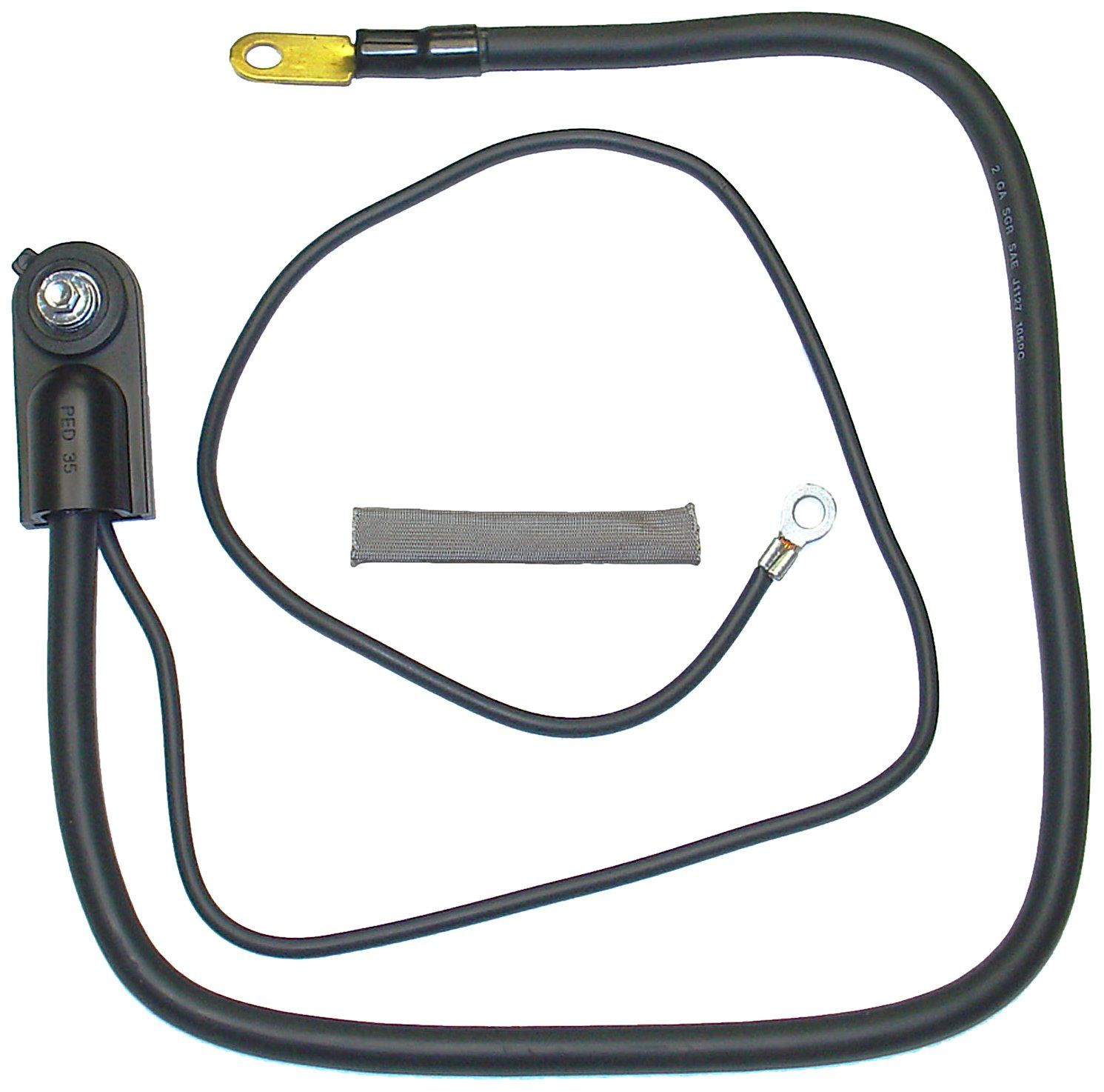 ACDelco SD47XE Professional 0 Gauge Positive Side Terminal Battery Fuse Block Cable with Auxiliary Leads