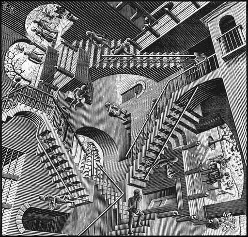 Stairway To Nowhere Painting Bing Images Escher Art Optical
